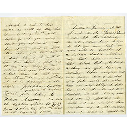 handwritten letter, 2 pages
