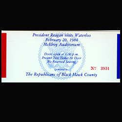 Invitation to see President Reagan at McElroy