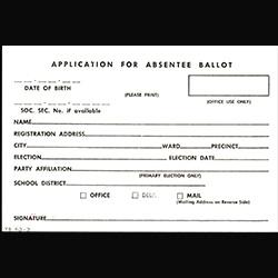 Application for an absentee ballot