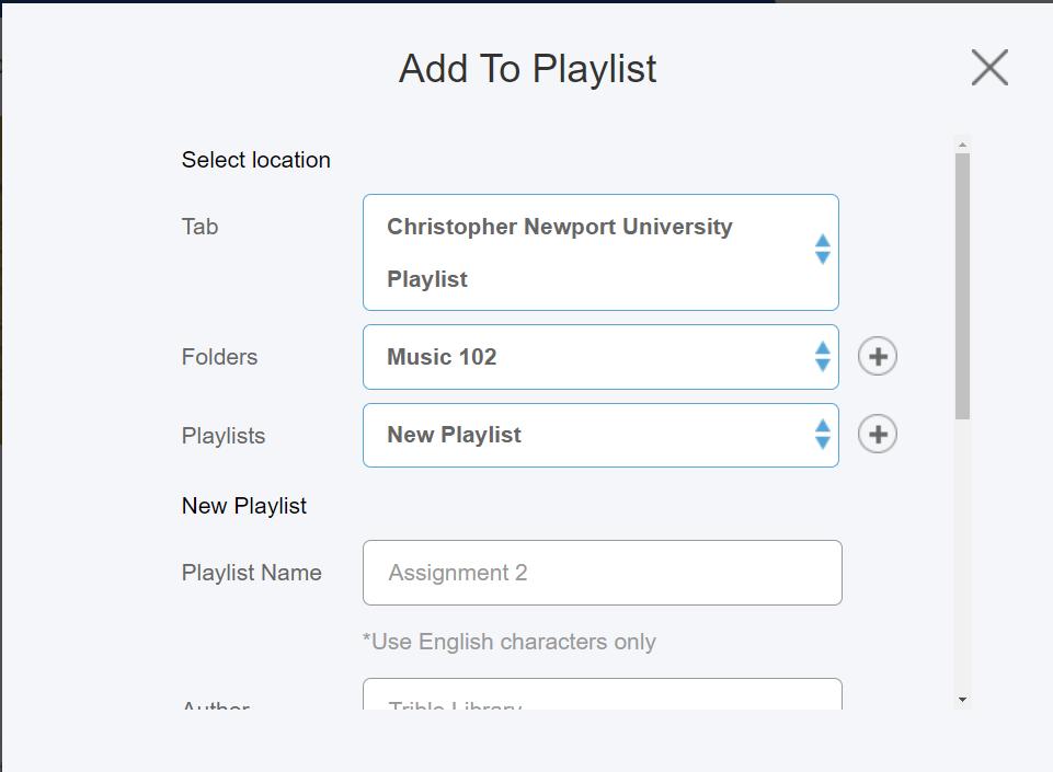 playlist in folder