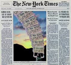 The New York Times front page image