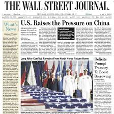 The Wall Street Journal front page image