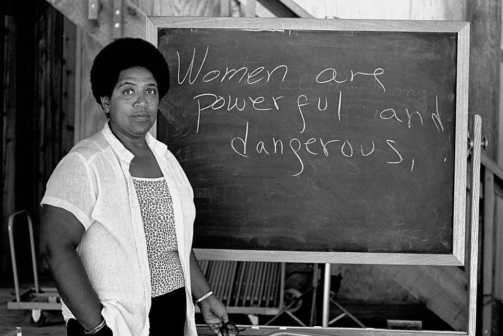 Photo of Audre Lorde: Women are powerful and dangerous.