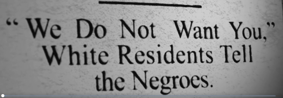 We do not want you, white residents tell Negroes