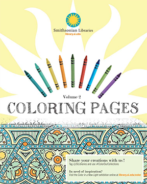 Smithsonian Libraries coloring book cover