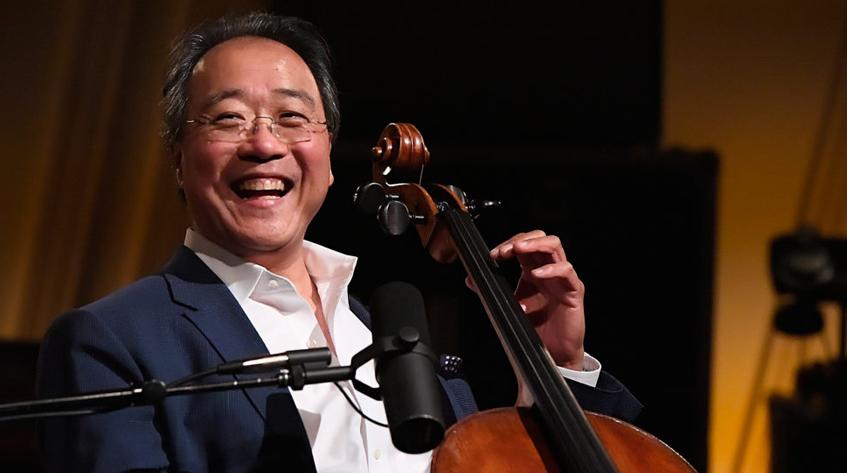 Cellist Yo-Yo Ma with his cello