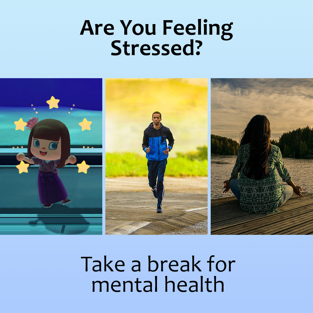 Are you feeling stressed? Animal Crossing, Exercise, and Meditation