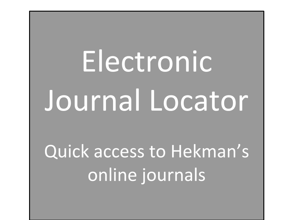 Electronic journal locator - quick access to Hekman's online journals