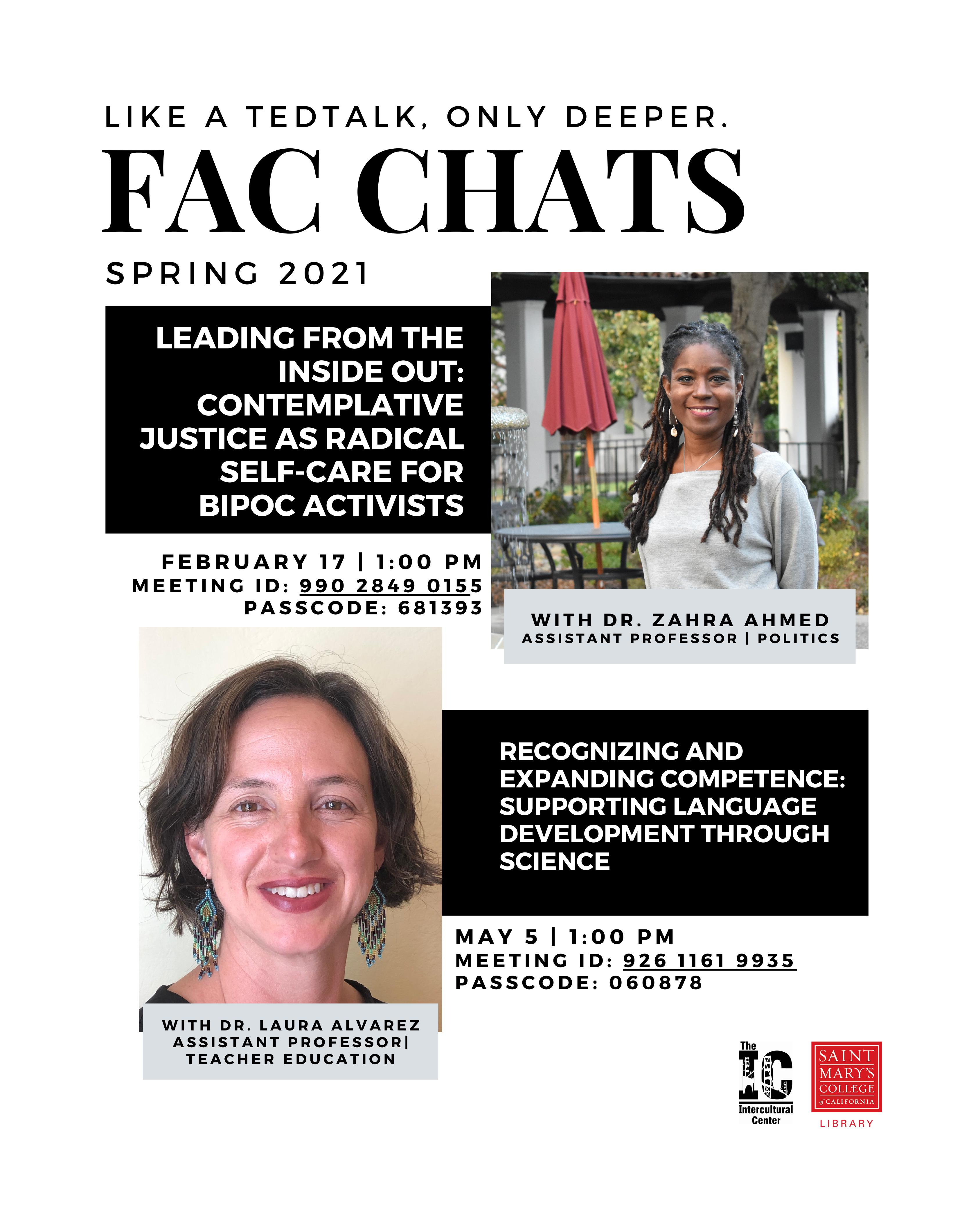 Spring 2021 Fac Chat Poster