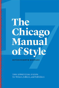 Chicago Manual of Style, 17th ed. thumbnail