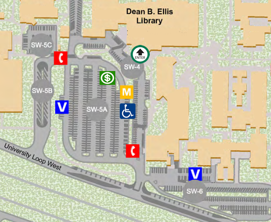 Library Parking Map