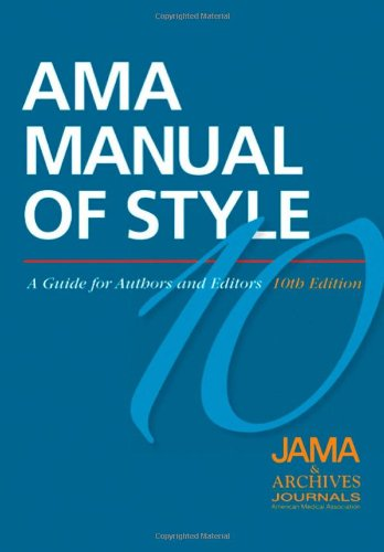 AMA Manual of Style 10th Edition Cover