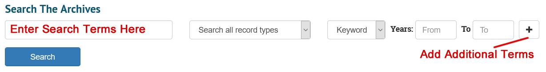 Add Search Terms Screenshot