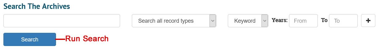 Run Search Screenshot