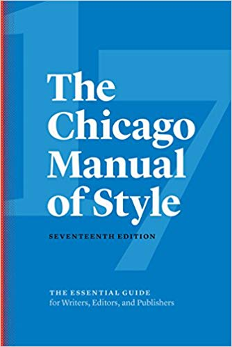 Chicago Manual Style 17th Edition Cover
