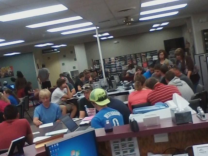 Crowded Library