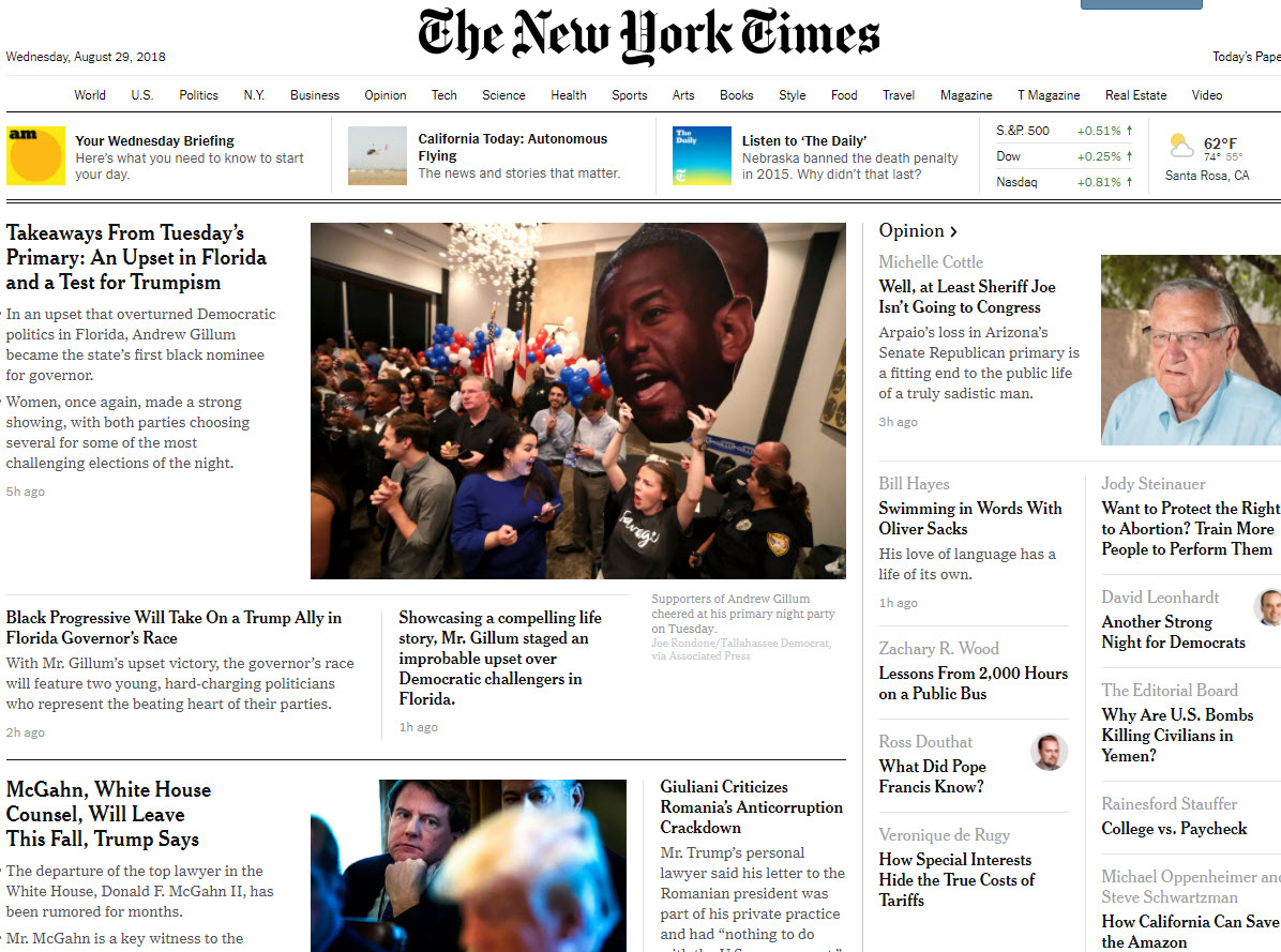 New York Times Cover