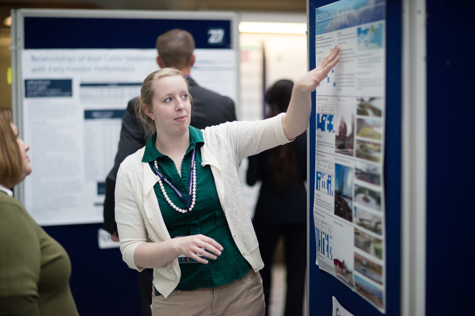 Student Presenting at Research Week