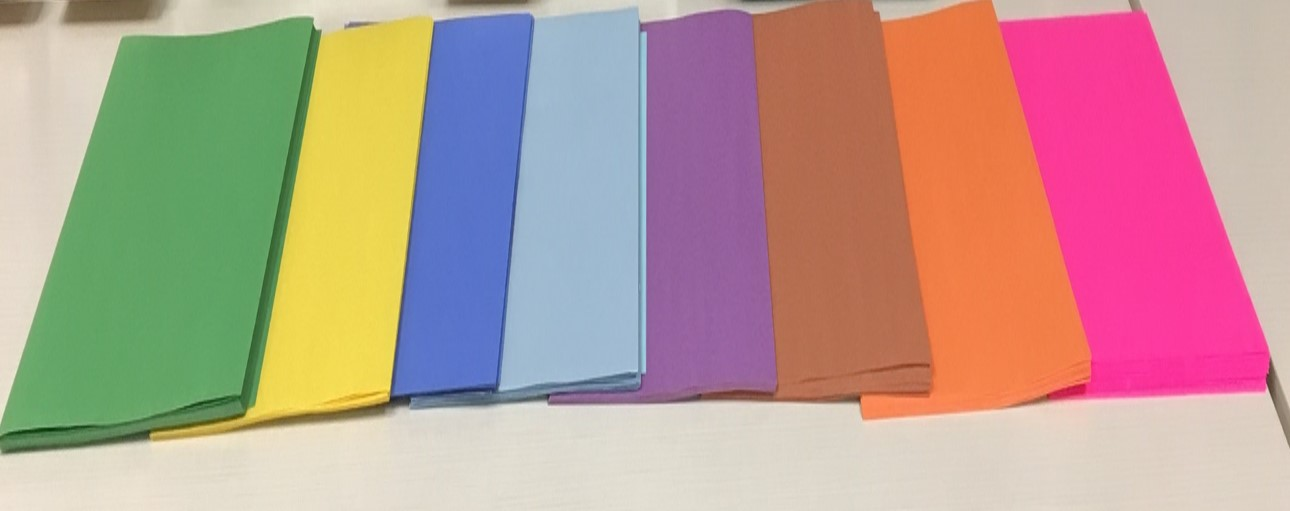 Construction paper is available in a variety of colors