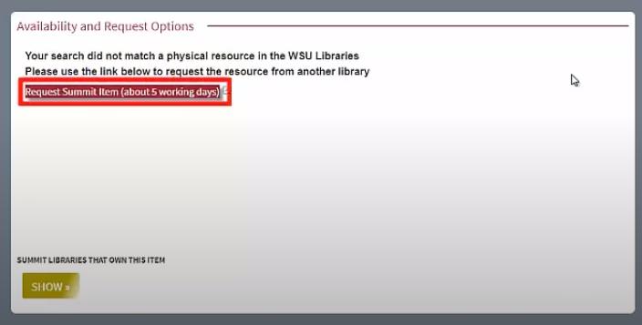 Request Summit Item button