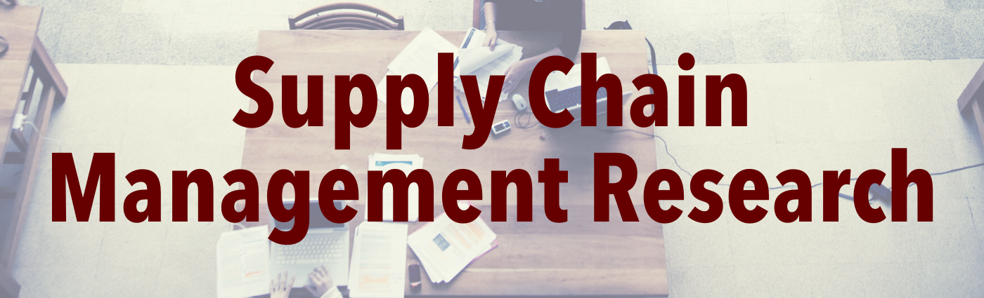 Supply Chain Management Research Banner
