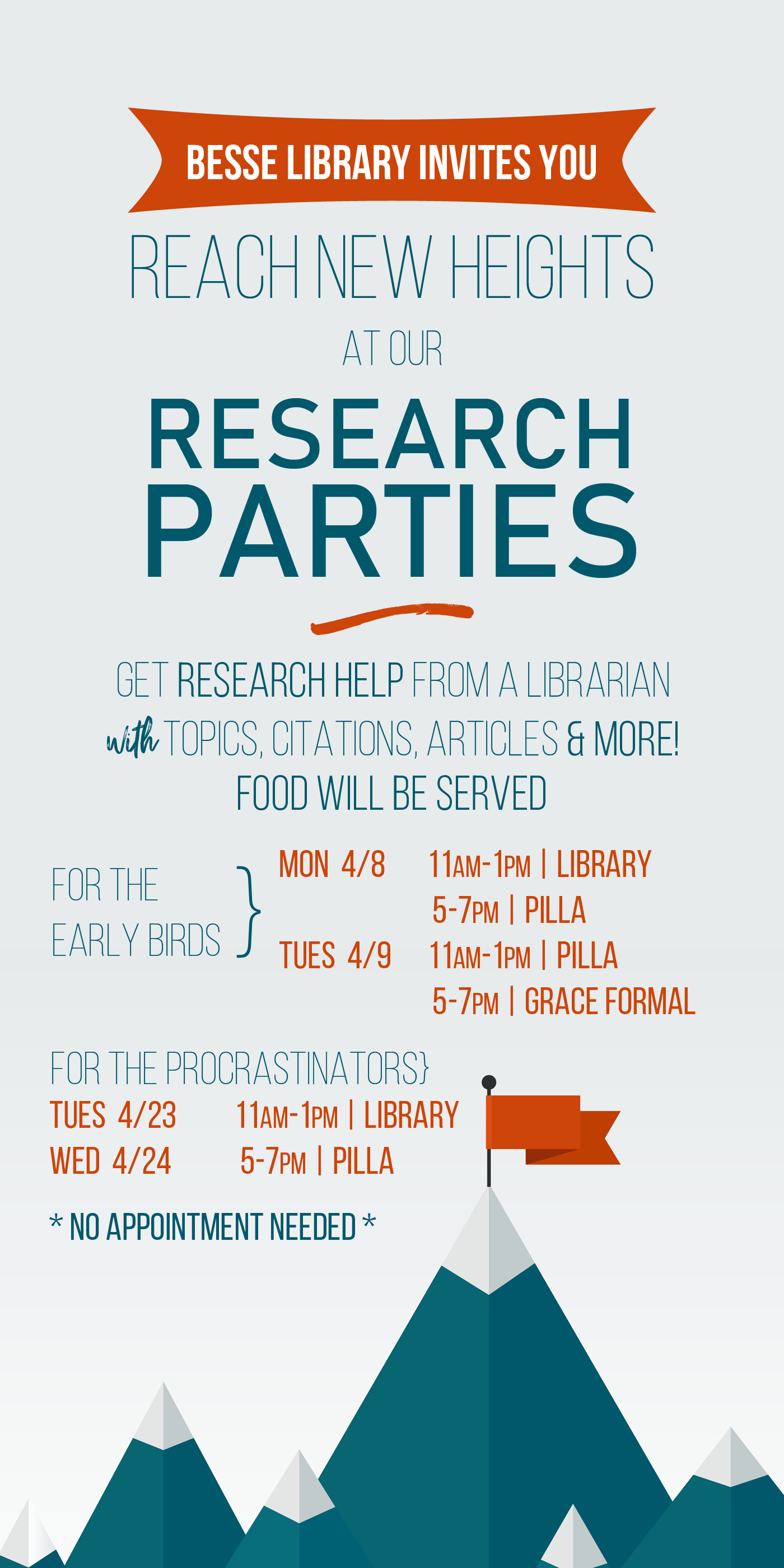 Research Parties Spring 2019