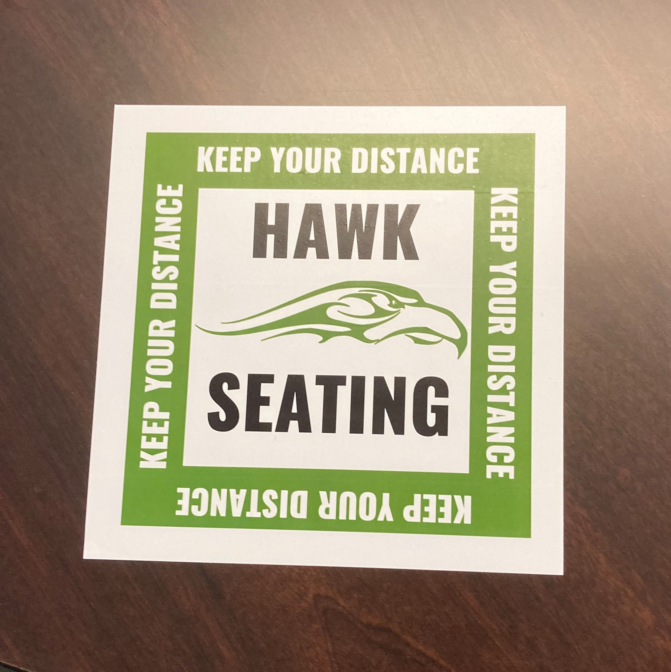 Hawk Seating - Keep Your Distance
