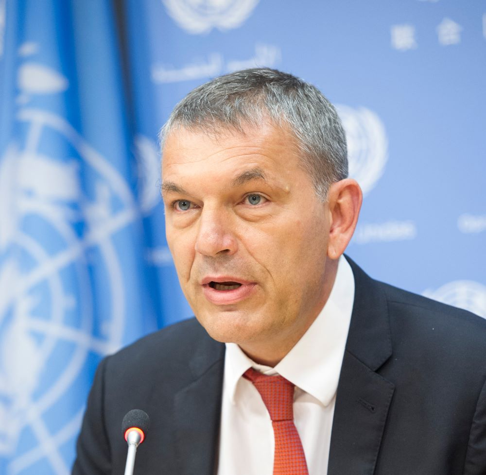 Phillipe Lazzarini, Commissioner-General of the United Nations Relief and Works Agency for Palestine Refugees in the Near East (UNRWA).  Author: UN Photo/Rick Bajornas. URL: https://www.unrwa.org/who-we-are/our-leadership/unrwa-commissioner-general