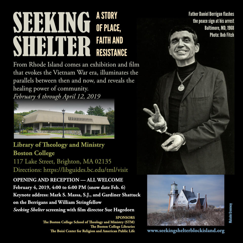 Seeking shelter exhibit poster image