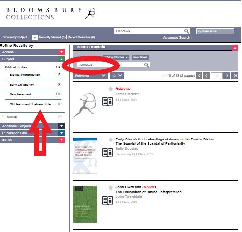 Bloomsbury Biblical Studies Ebooks