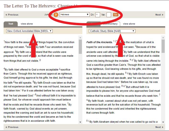 Oxford Biblical Studies Online Bible verse lookup