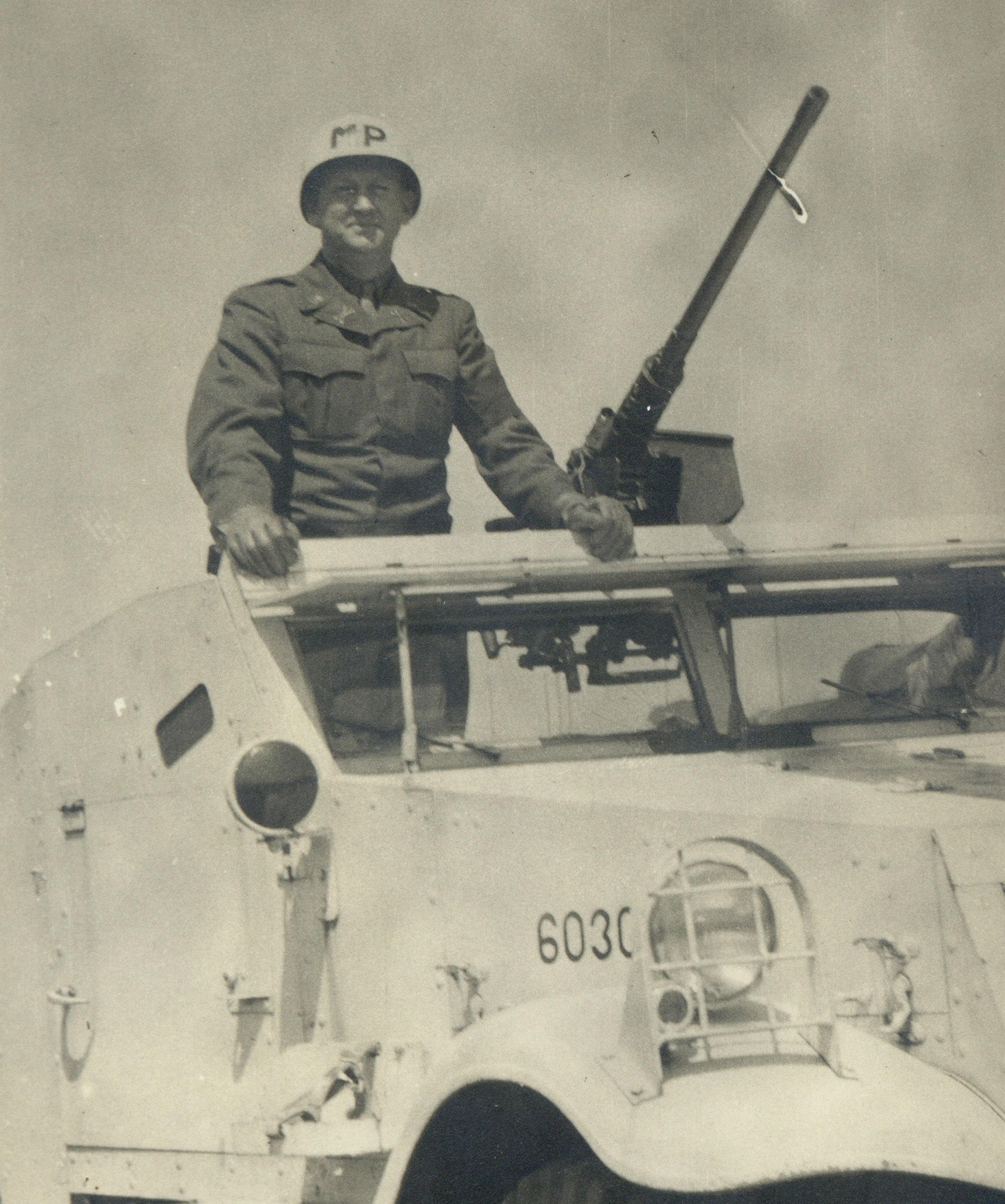 Middleton on a riot car in Japan 1047