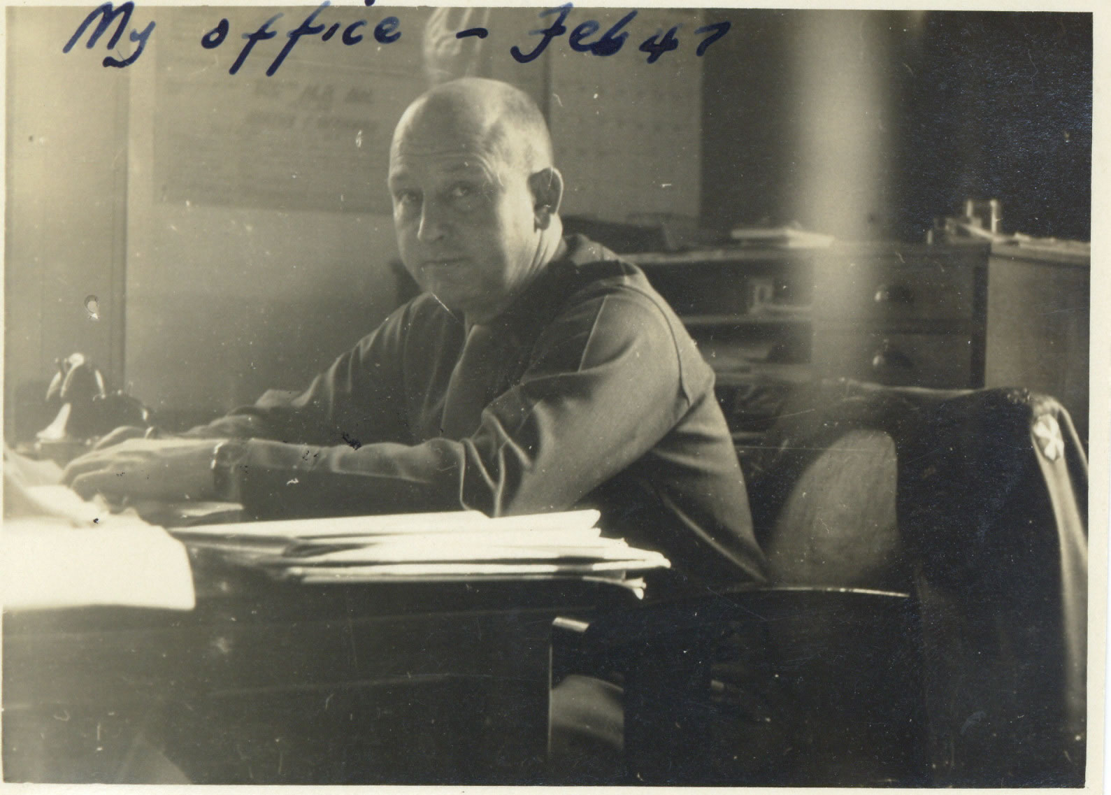 Middleton in his office in Japan 1947