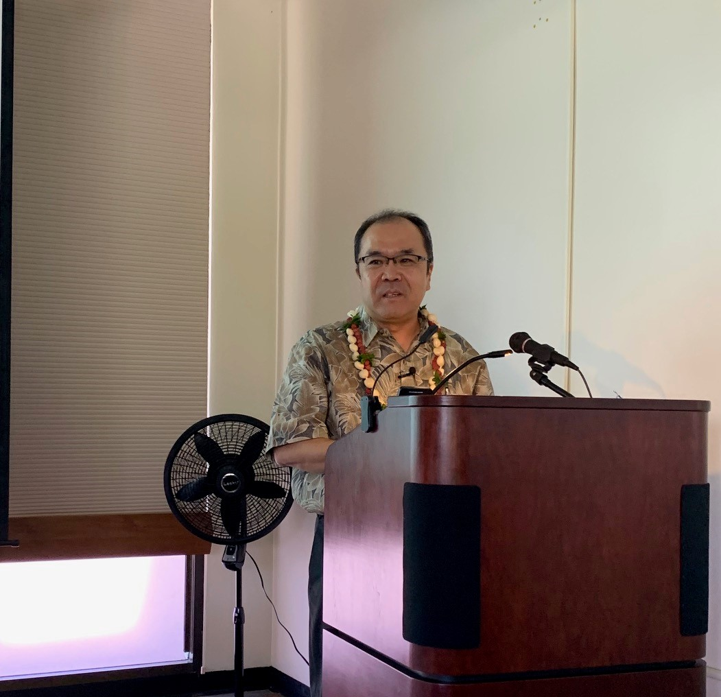 Dr. Azuma of UPenn delivering his lecture on Aug 20 2019