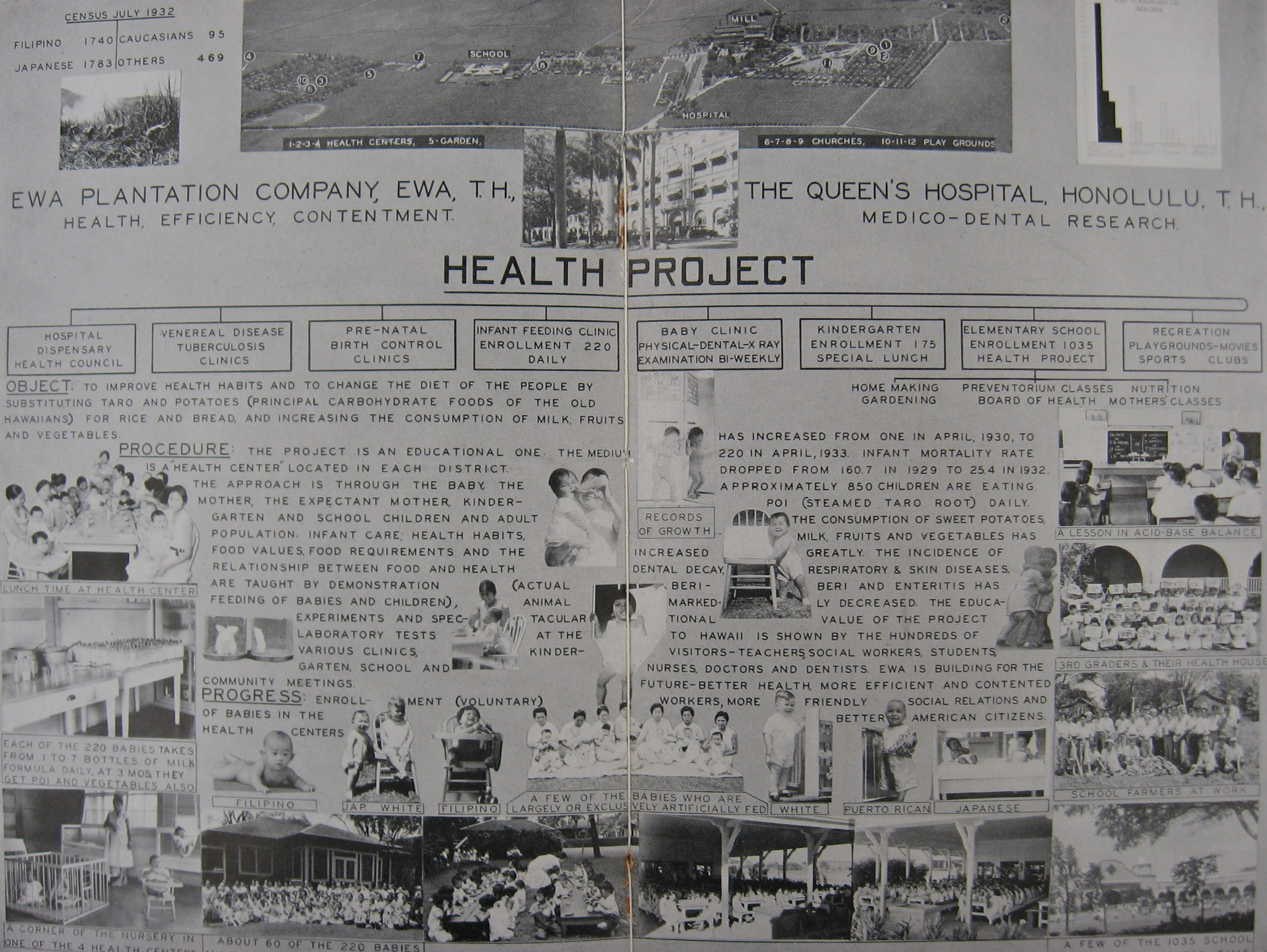 health project chart in Hawaii