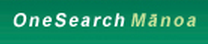 One Search manoa logo