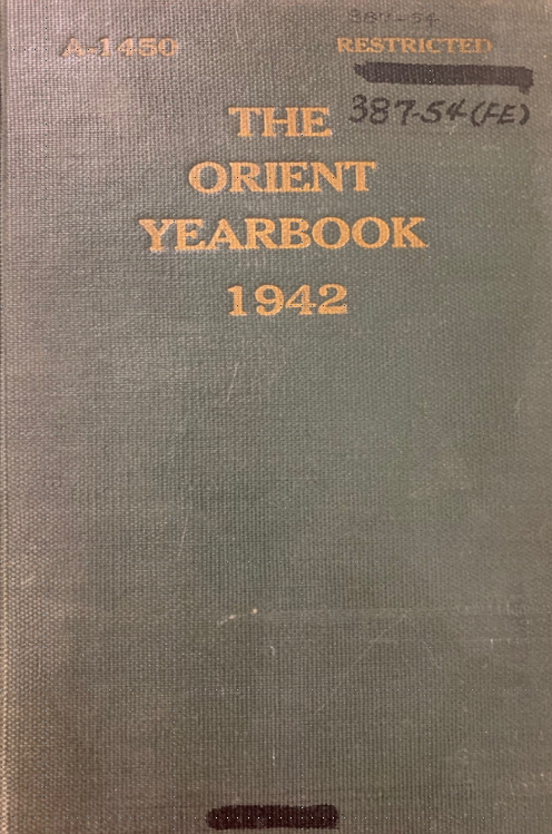 cover of the orient yearbook