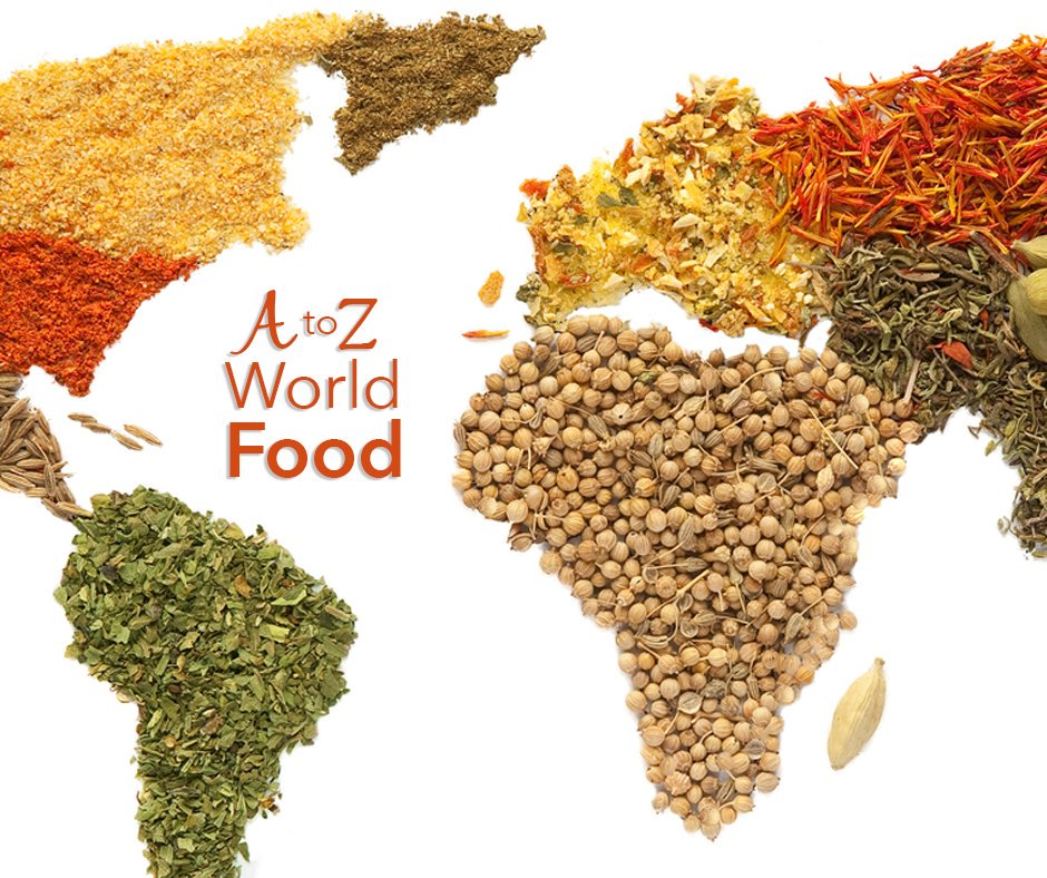 A to Z World Food graphic