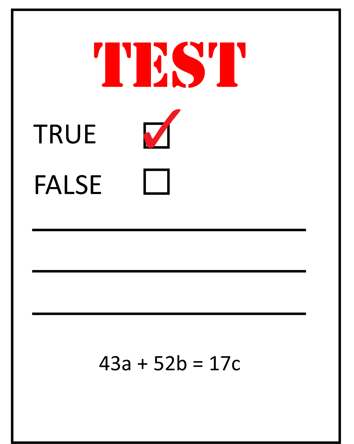 Testing Graphic