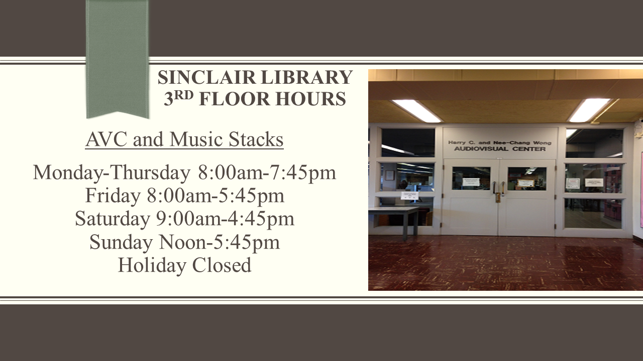Sinclair Library 3rd Floor Hours