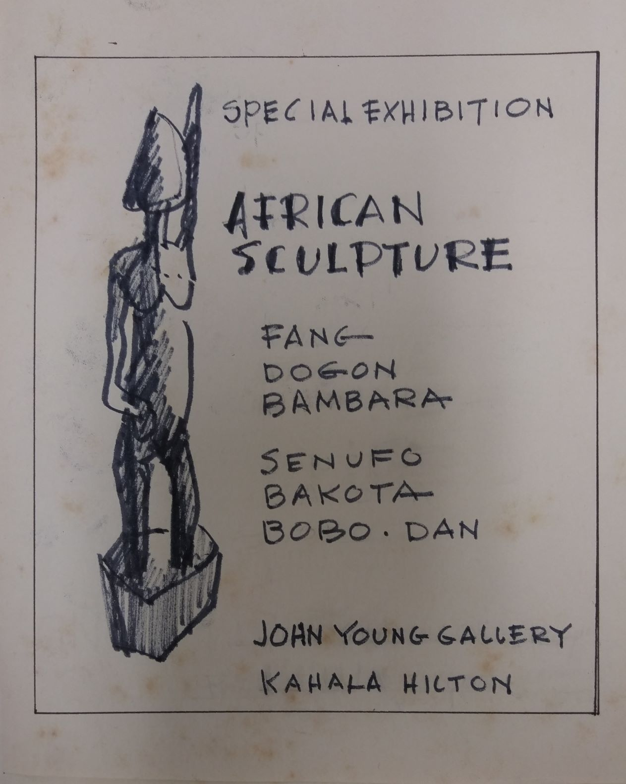 Sketch for John Young Gallery at the Kahala Hilton
