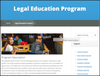 Legal Education home page