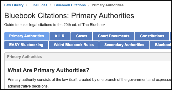 Bluebook citations guide