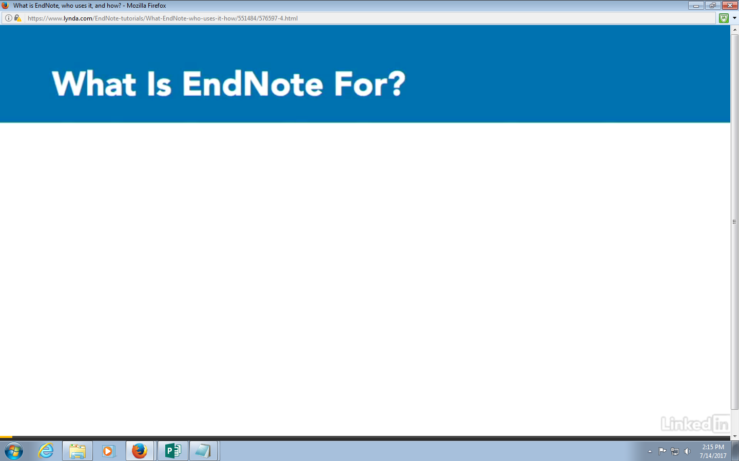 Why Use EndNote Video