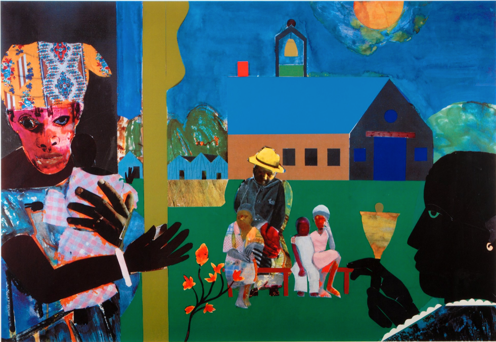 Romare Bearden, School Bell Time, 1994, silkscreen