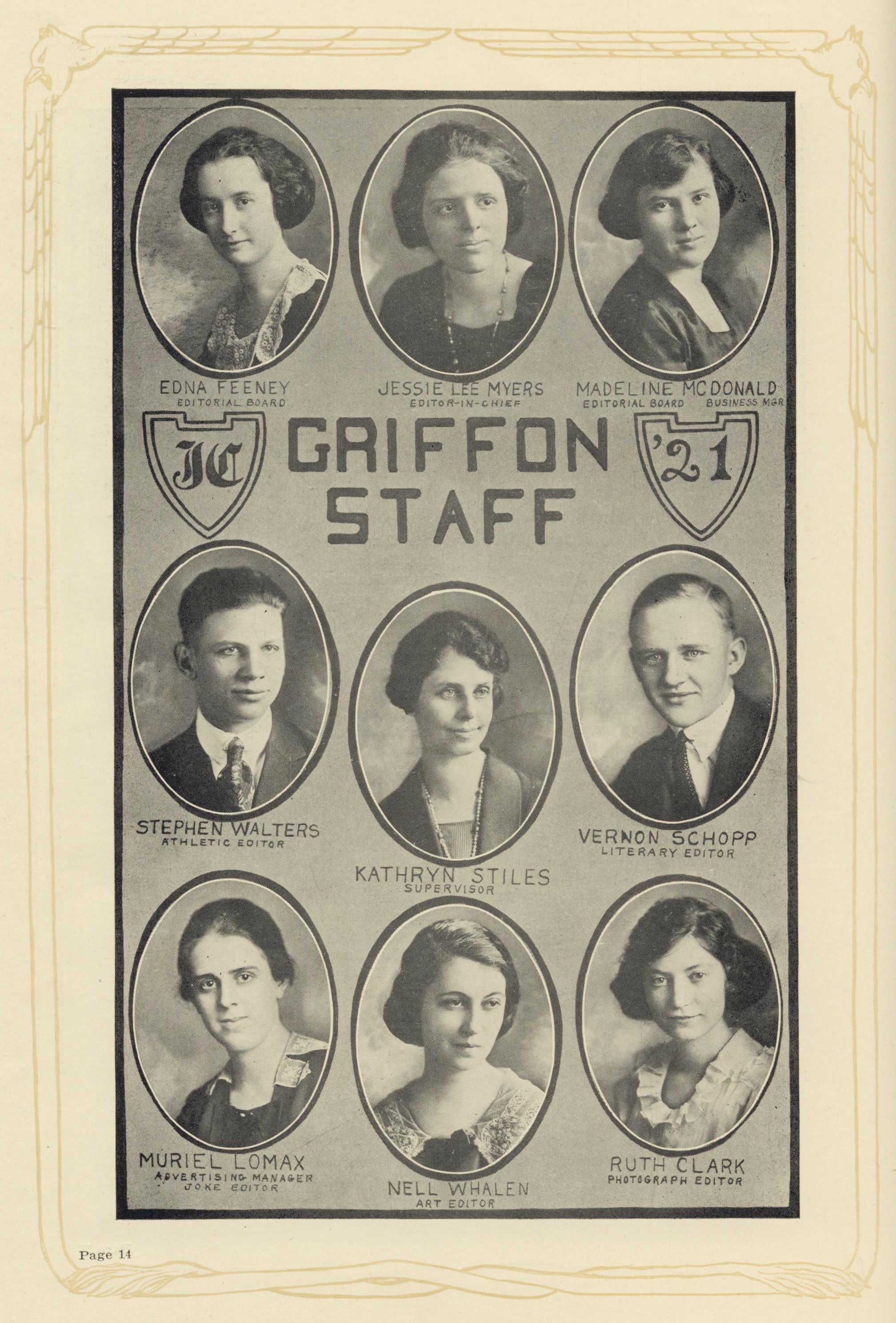 Griffon Yearbook Staff