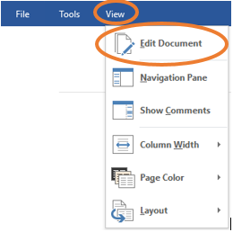 edit document in read only