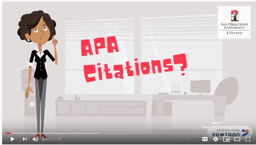 Button to start Understanding APA Citations tutorial