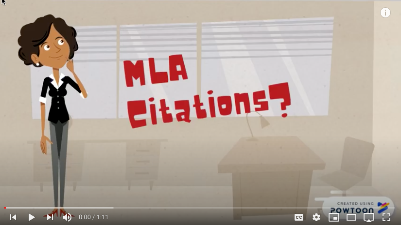 Understanding MLA Citation Tutorial Link