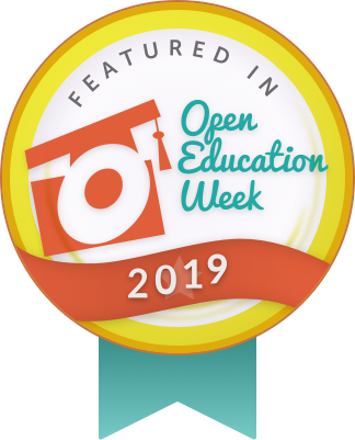 Badge stating OkState resources featured in Open Education Week